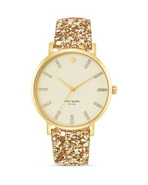 Gold glitter Kate Spade watch!