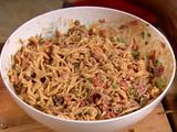 Neely's BBQ Pasta Salad ... I've made this for the past few years and it is delish! I made a few alterations (chicken in place of pulled pork, rotini pasta rather than fusilli) but it is one of my favorites!
