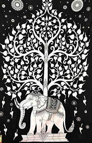 Indian TREE OF LIFE Wall Hanging Decor Cotton Poster Home-Decor Tapestry #Unbranded #Americana