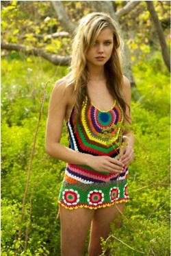 Crochet - topSummer Shirts, Minis Dresses, Fashion, Crochet Dresses, Crochet Tunic, Hippie Style, Boho, Crochet Tops, Teen Girls