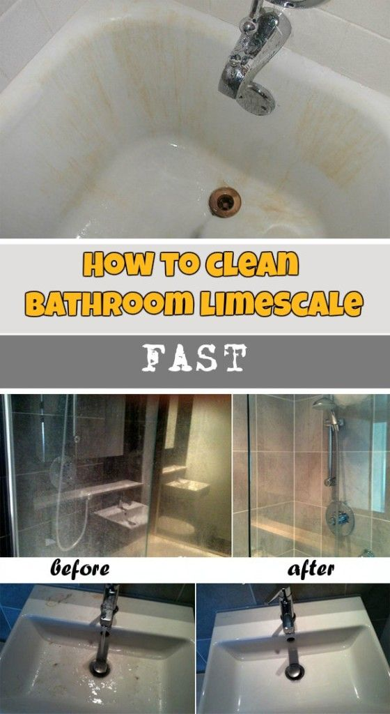 Learn how to clean bathroom limescale fast.