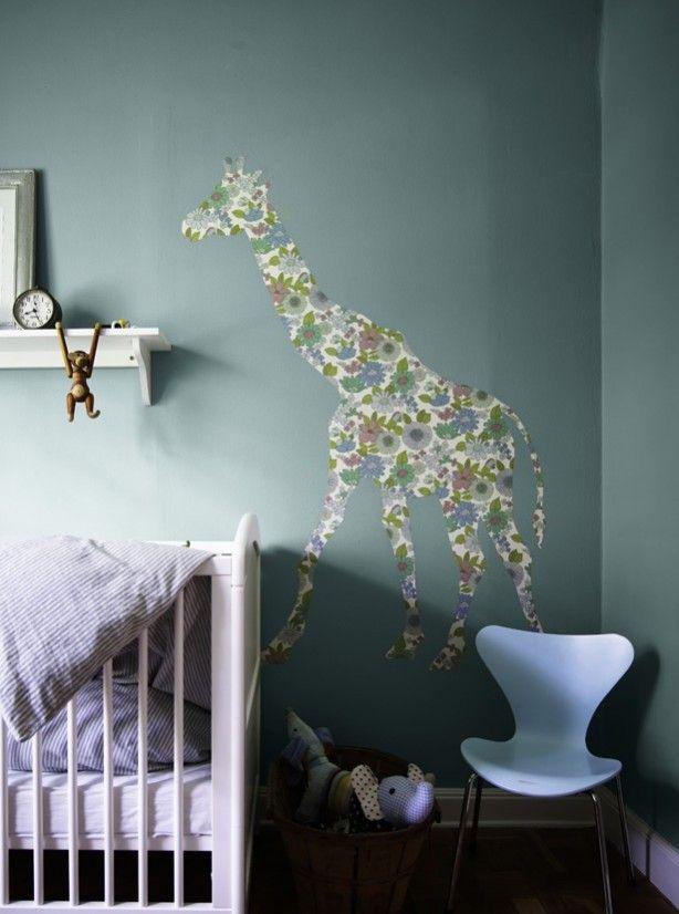 leuke muurtekening voor de baby kamer