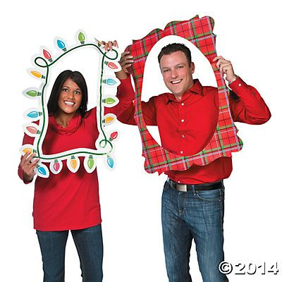 Merry & Bright Picture Frame Cutouts, Photo Booth Props, Costume Accessories, Costumes, Accessories & Jewelry, Party Supplies - Oriental Trading