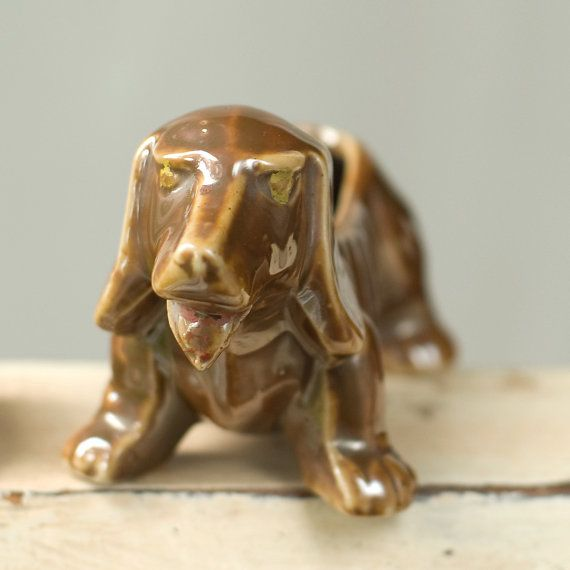 Vintage Dachshund Planter Small by My3Chicks on Etsy, $18.00