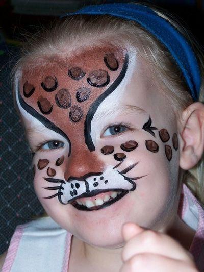 Trucco del viso per Carnevale per bambini da leopardo
