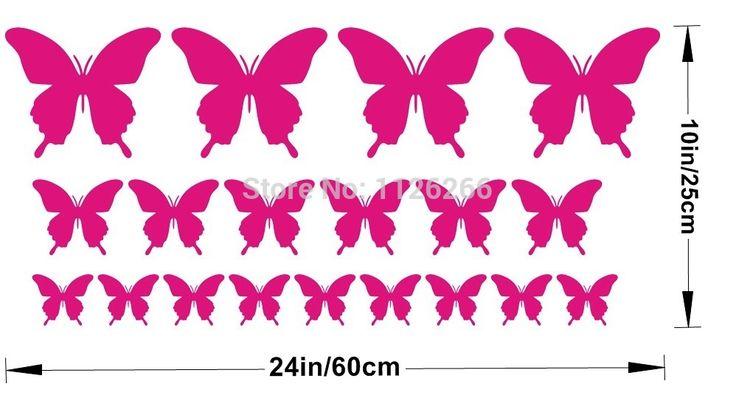 Съемный различные цвета бабочки или звезд декоративные наклейки виниловые наклейки стены искусства для детей номеров домашнего декора купить на AliExpress