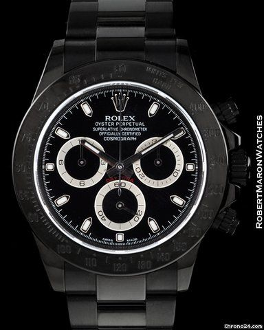 Rolex Daytona ad: price on request Rolex 116520  Daytona Black Out Bamford Pvd…