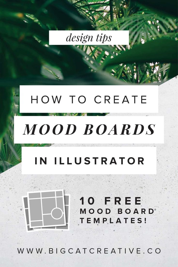 How to Create Mood Boards in Illustrator — Big Cat Creative  |  Illustrator Tips | Illustrator Tutorials | Design Tips | Design Tutorials | Free Mood Board Templates | Mood Board Freebies | Design Freebies | Vision Boards | Vision Board Templates | Graphic Design Tutorial | Graphic Design Tips | Freebie Friday | Free Design Templates