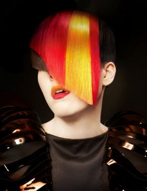 Futuristic Hairstyle, Nick StensonNew York, NY, futuristic look, future fashion, futuristic fashion, David Byun, hairstyle!