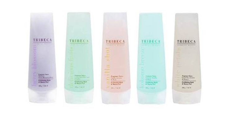 TRIBECA Exfoliating Bath & Shower gel  www.tribecaonline.com.ar