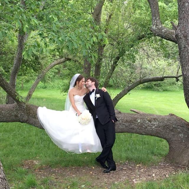 What a kiss! #wedding #brideandgroom #bride #weddingdress #weddingtime #weddingplanner #bostonwedding #larzandersonpark #kissthebride #kissing #love #loveislove #onthetree #genuinelove #happiness #happytime #happycouple #любовь #поцелуй #женихиневеста #свадьба #russianboston #бостон  #Regram via @primaveradreams