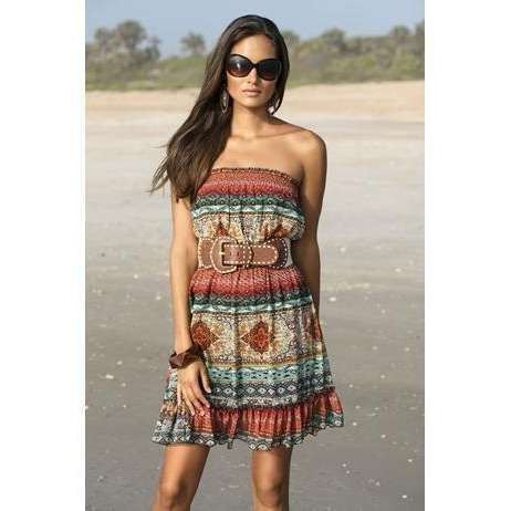 body central clothing | BOHEMIAN PRINT STRAPLESS DRESS | Body Central | ThisNext
