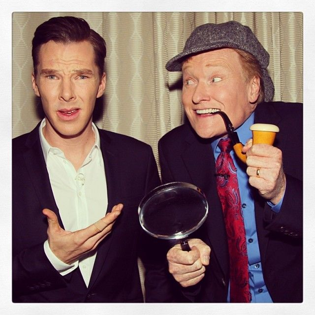 """""""Tonight, I got to live out a dream: Showing Benedict Cumberbatch my cosplay for HolmesCon2013!"""" -#Conan TBS 11p/10c #Sherlock #TheHobbit by teamcoco"""