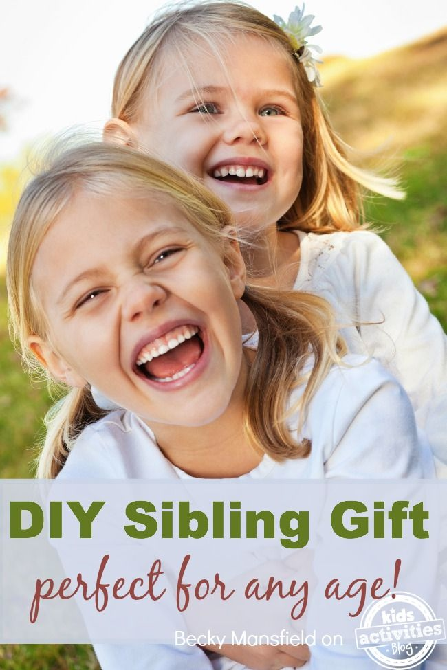 Here is an adorable sibling gift that comes with a free printable. Gifts from the heart are the best!