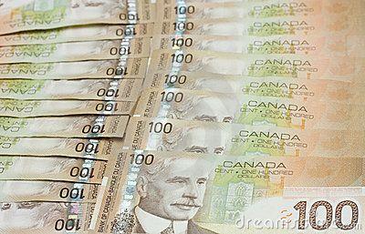stacks paper bills   Stack Of Canadian One Hundred Dollar Bills Stock Images – Image …