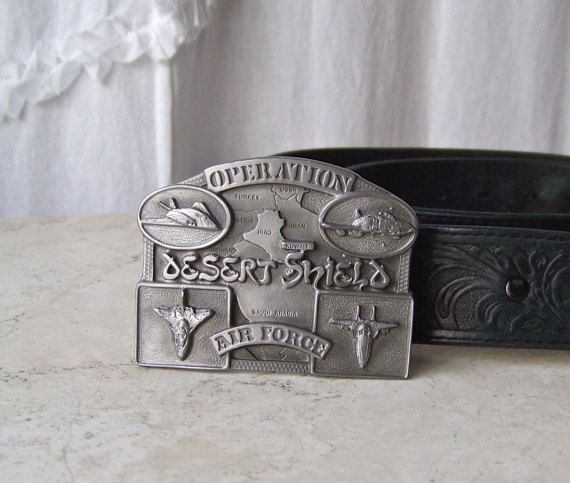 Vintage Belt Buckle Operation Desert Shield Air by CynthiasAttic