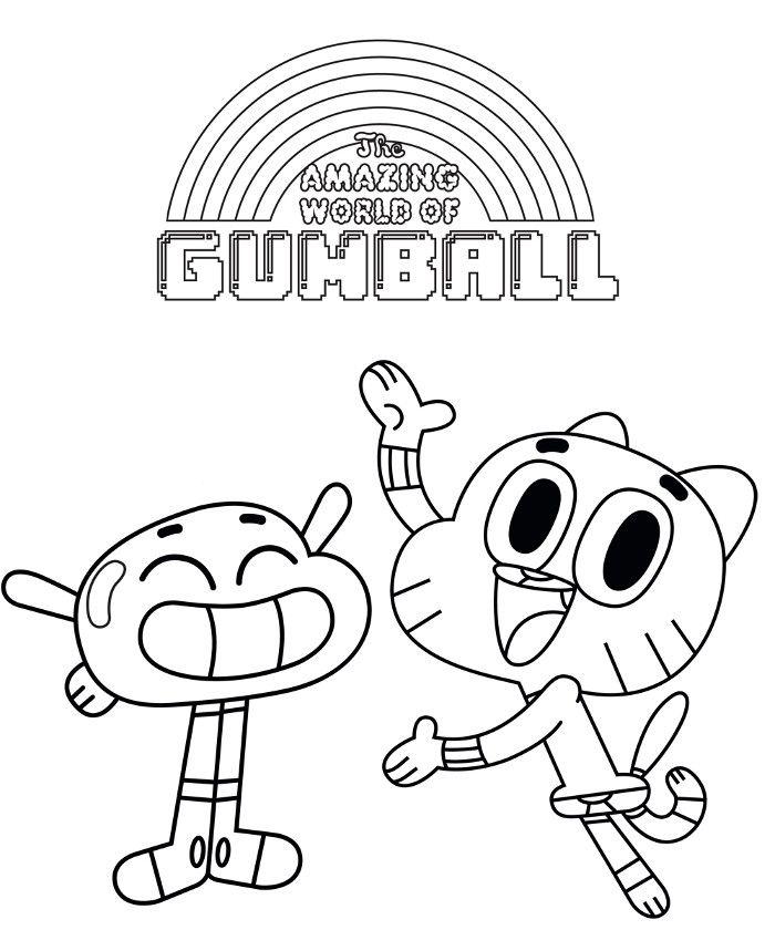 Para Colorear El Increible Mundo De Gumball En 2020 Dibujos