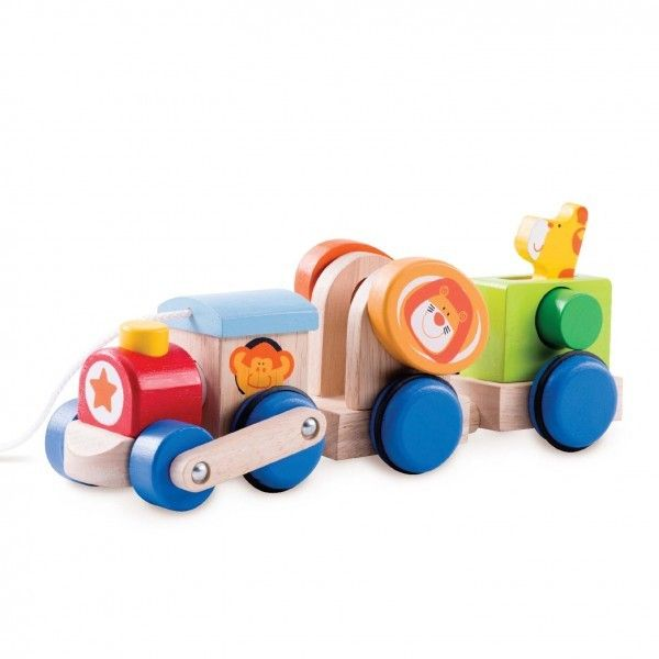 Wonderworld - Wooden Safari Pullalong Train 4