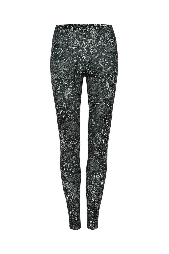 Black Paisley Printed Yoga Legging - Full Length – Dharma Bums Yoga and Activewear