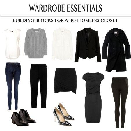 simple work wardrobe women - Google Search