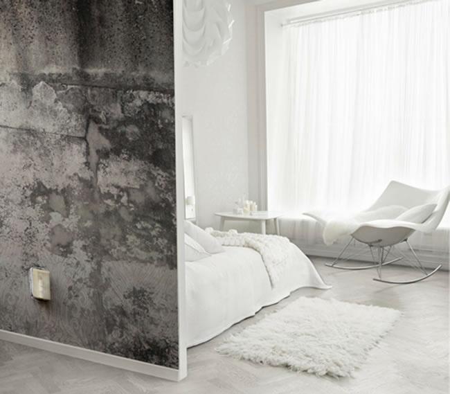 Emily Ziz Style Studio: Concrete wallpaper