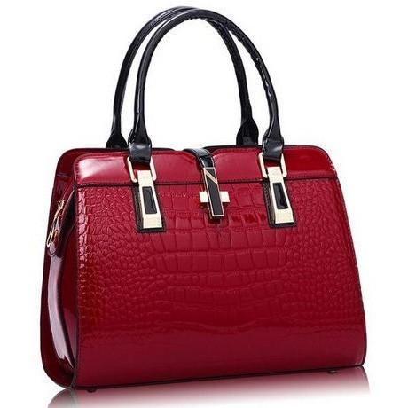 Alligator Patent Leather Handbag