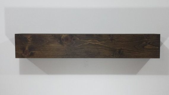 Large Wood Beam Mantel Fireplace Mantel Rustic by AnjowgaWoodworks