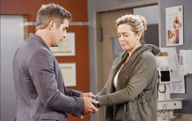 """Days of Our Lives"" spoilers for Thursday, June 1, tease that Nicole (Arianne Zucker) will deal with the consequences of going on the run with Holly. Nicole has already had a rough time thanks to Deimos (Vincent Irizarry) and Xander (Paul Telfer). She's suffered enough for her actions, but Chloe (Na"