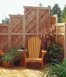 easy-to-build privacy panels: Decor, Privacy Wall, Idea, Privacy Panels, Yard, Privacy Garden, Gardening, Easy To Build Privacy