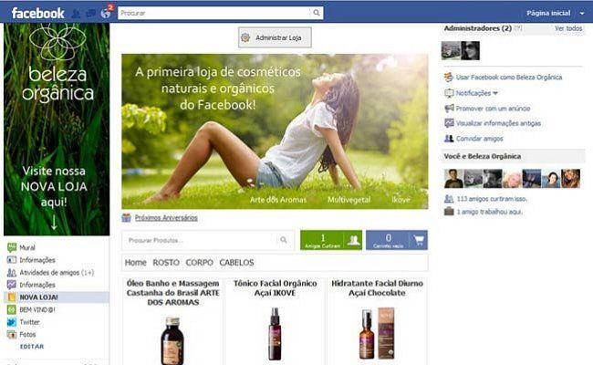 """Beleza Orgânica: loja brasileira vende cosméticos naturais pelo Facebook"" - Marie Claire 14/12/2011"