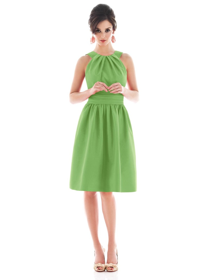 Champagne color dress-clover green