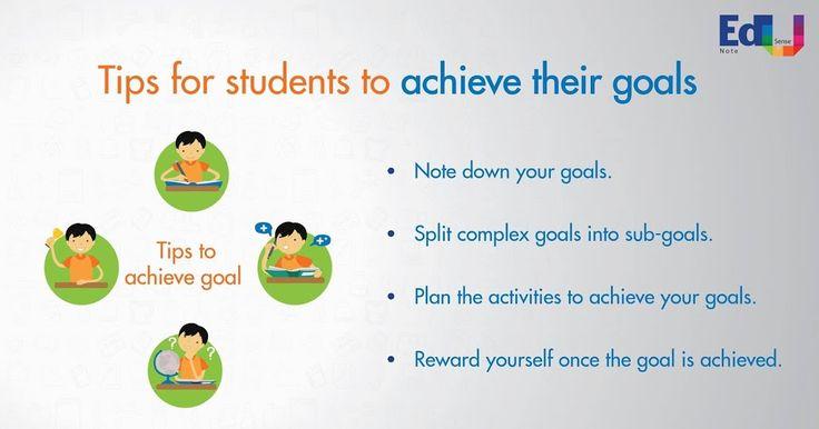 Tips for students to achieve their goals. #EdusenseNote