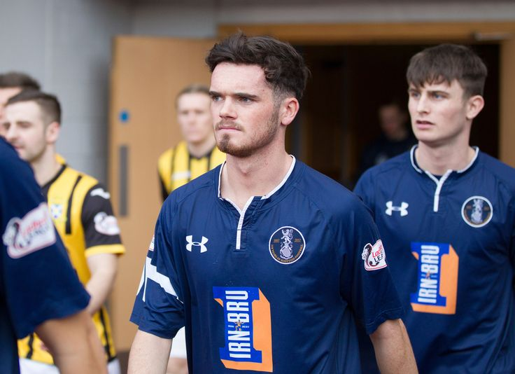 Queen's Park's Aidan McIlduff walking out onto the Hampden pitch for his debut before the Ladbrokes League One game between Queen's Park and East Fife