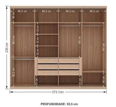 Resultado de imagem para armario de 4 portas planejado