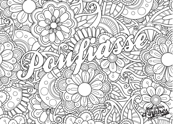99 best coloriages adultes images on pinterest coloring pages coloring for adults and tattoo - Coloriage pour adulte gratuit ...