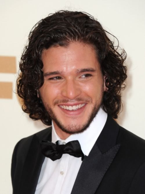 Kit Harington...I think I have a thing for guys with dark hair and dark eyes...