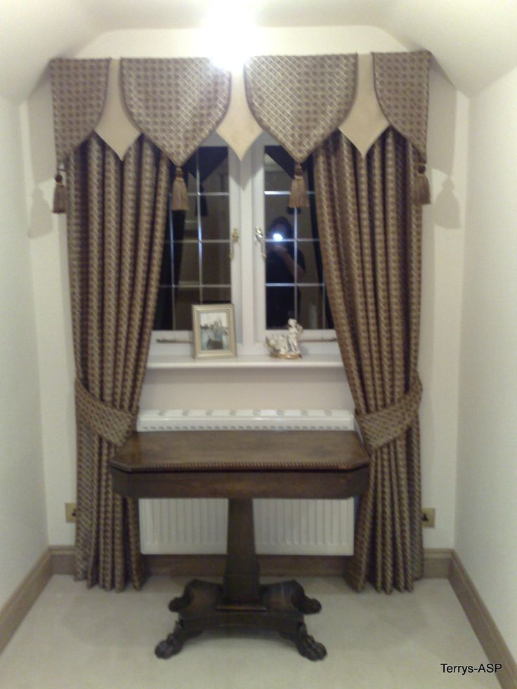 Individual Shields Pelmet and full length curtains