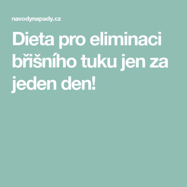 Dieta pro eliminaci břišního tuku jen za jeden den!