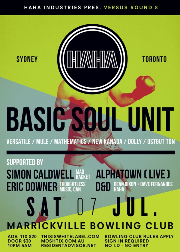 Versus with Basic Soul Unit, Alphatown, Simon Caldwell, and D 12/07/12