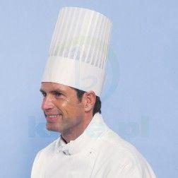 Czapka kucharska wiskozowa MONARCH 30 cm
