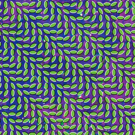 "Animal Collective - ""Merriweather Post Pavilion"" (2009). The optical illusion cover art is based on the works of Japanese psychologist Akiyoshi Kitaoka."
