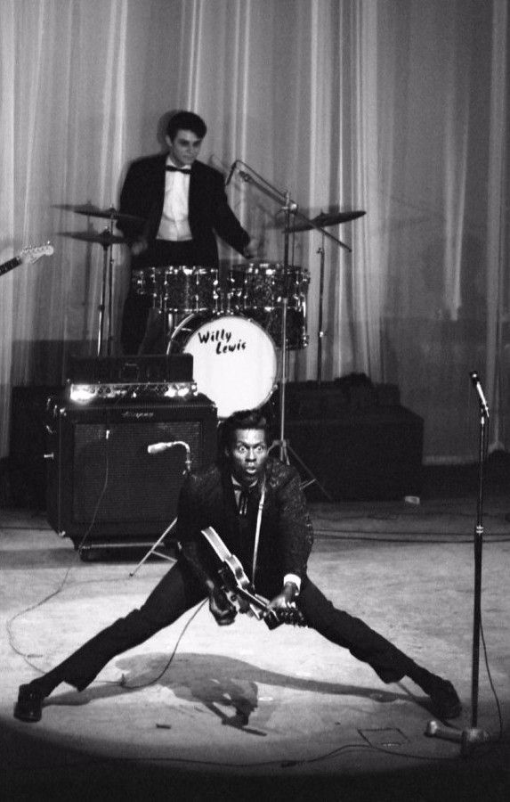 "languagethatiuse: "" Mr. Chuck Berry performing at the Olympia, 1965. Photography by Andy Crudo. """