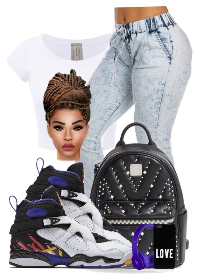 """3timesacharm8s♡♡♡"" by ballislife ❤ liked on Polyvore featuring MCM, NIKE and Givenchy"
