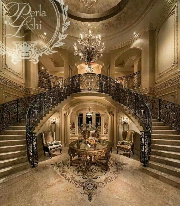 Gasp! Almost exactly the grand stairs of my dreams!
