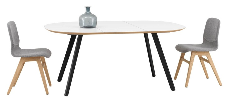 Boconcept expandable table with white laminate top 47 for Table extensible 6 a 8 personnes blooma