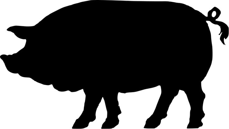 vintage pig clip art | 22 pig silhouette free cliparts that you can download to you computer ...