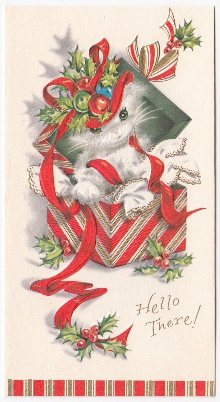 928 Best Christmas Vintage Birds Cats Mice Amp Misc
