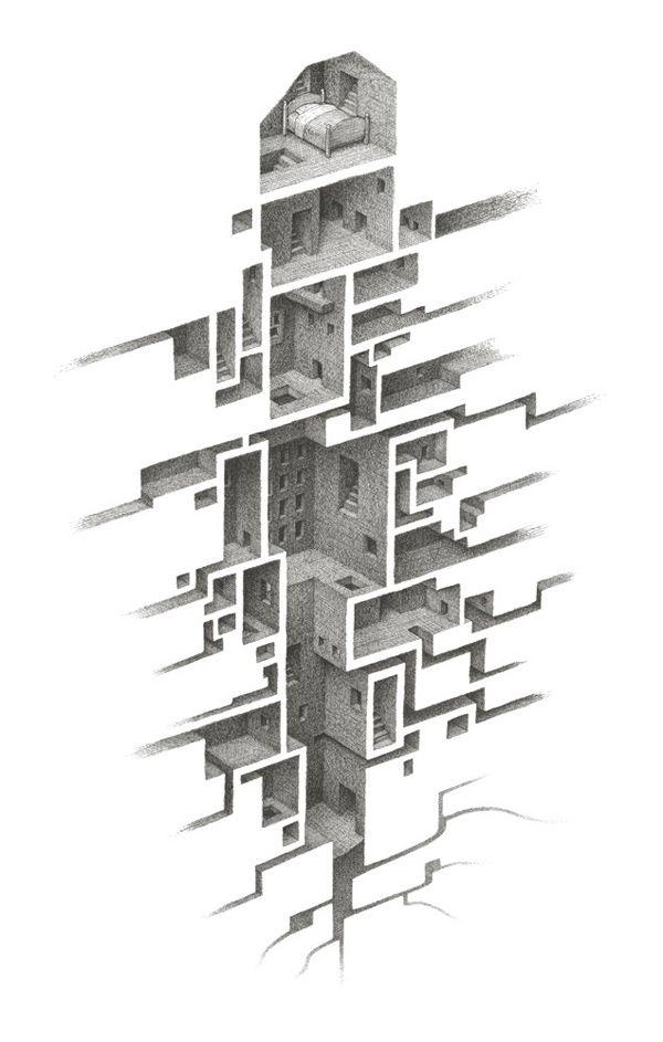 Drawings by Mathew Borrett