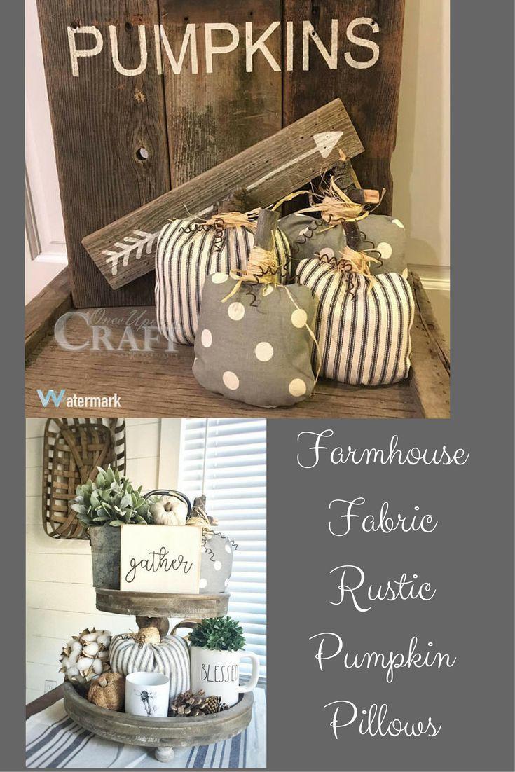 Farmhouse Fabric Pumpkins Rustic Farmhouse Decor Farmhouse Rustic Fall Etsy Ad Rustic Fall Decor Farmhouse Fabric Rustic Farmhouse Decor