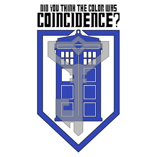 Did you think the color was coincidence?  The Doctor stands with the Resistance!